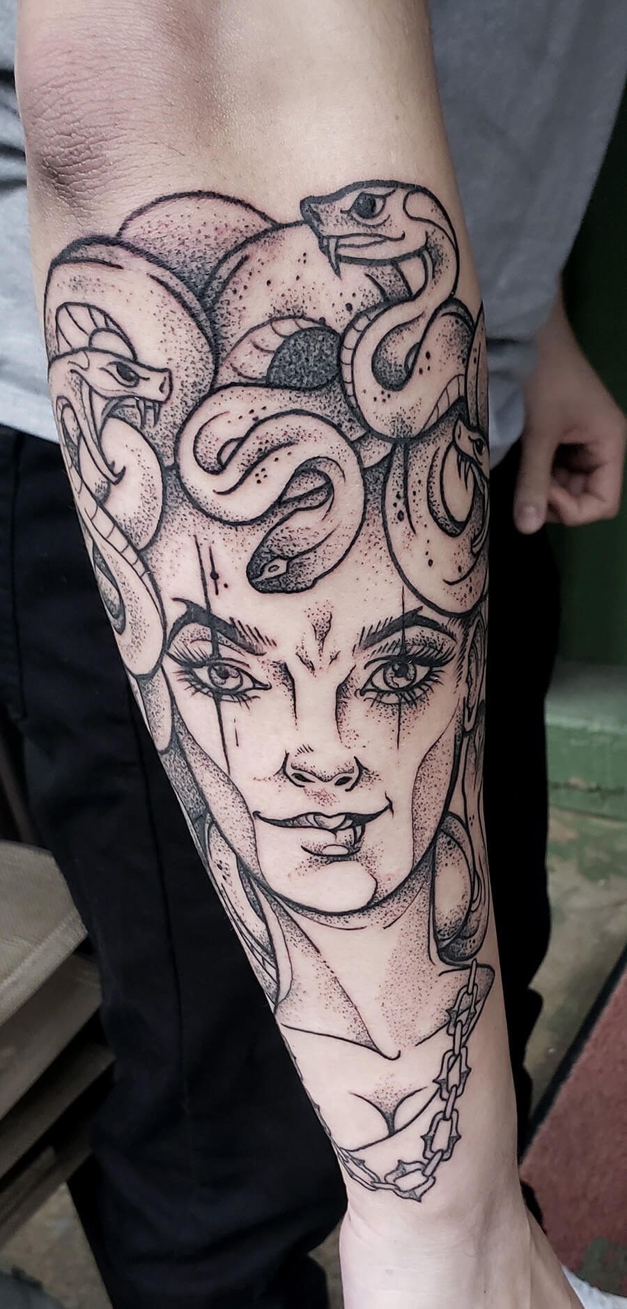 Medusa Dotwork Tattoo