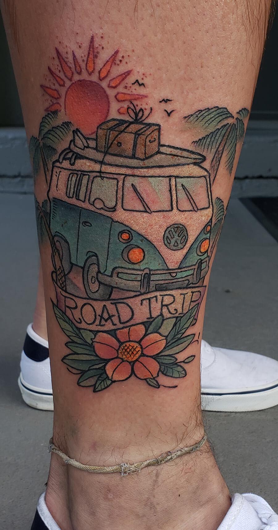 VW Bus Tattoo